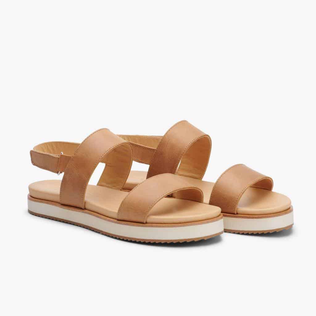 Go-To Flatform Sandal Almond