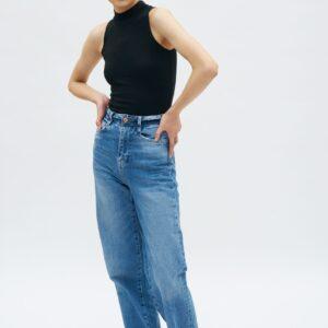 Kotn Women's Mock Neck Tank Top in Black, Size 2XL