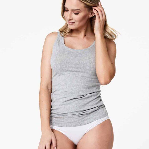 Women's Heather Grey Stretch-Fit Tank XL