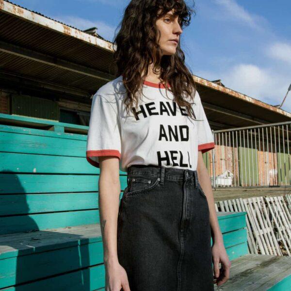 Nudie Jeans Hanna Skirt Black Trace Denim Skirts Small