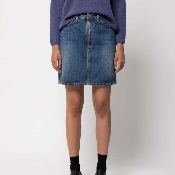 Nudie Jeans Hanna Skirt Blue Freckles Denim Skirts X Small