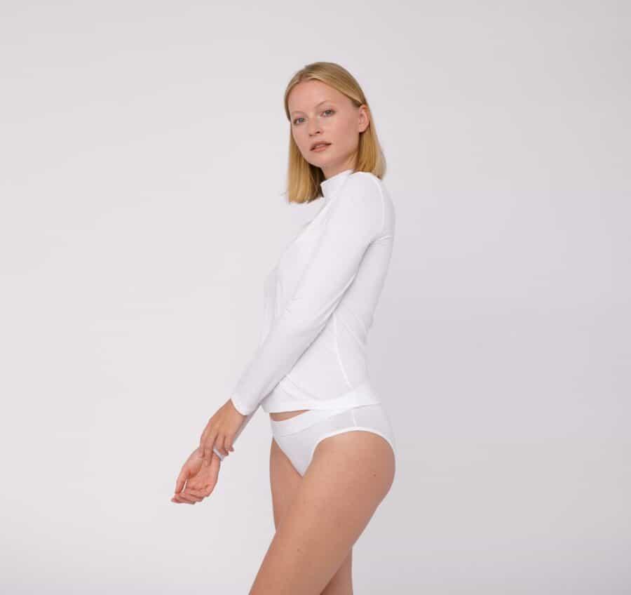Organic Basics Tencel Turtleneck White