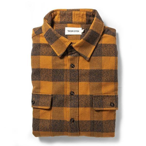 The Yosemite Shirt in Saffron Buffalo Check