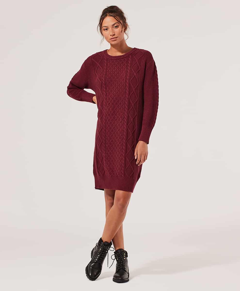 Women's Cabernet Sweater Dress 2X