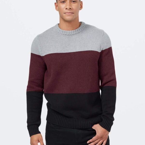 Highline Blocked Crew Sweater
