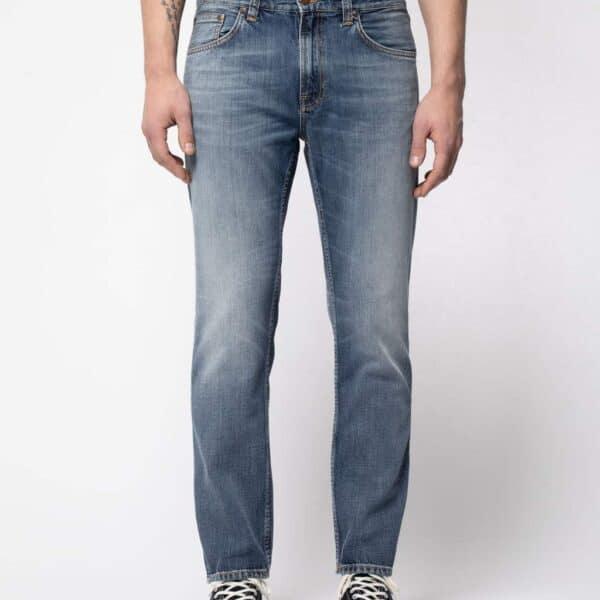 Nudie Jeans Gritty Jackson Blue Hawk Mid Waist Straight Leg Jeans W24/L34
