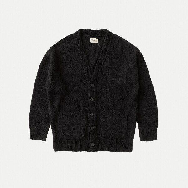 Nudie Jeans Manne Alpaca Cardigan Black Knits XX Large