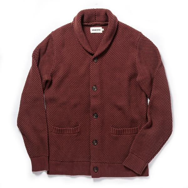 The Crawford Sweater in Burgundy
